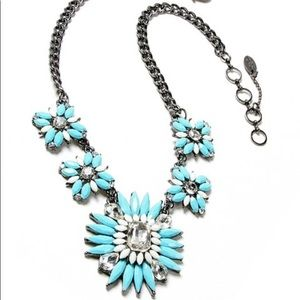 Amrita S. Aqua & Ivory Austrian Crystal Necklace